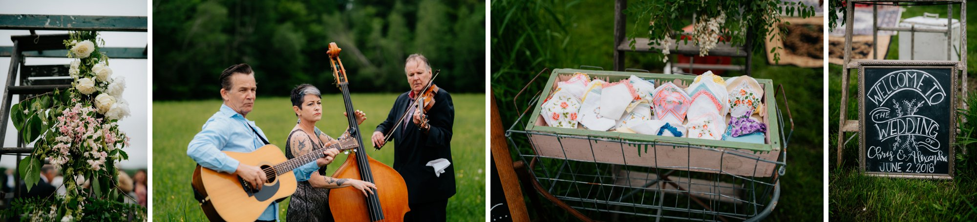 Fiddle Lake Farm Philadelphia Pennsylvania Misty Rustic Wedding with Lush Florals Ceremony Details
