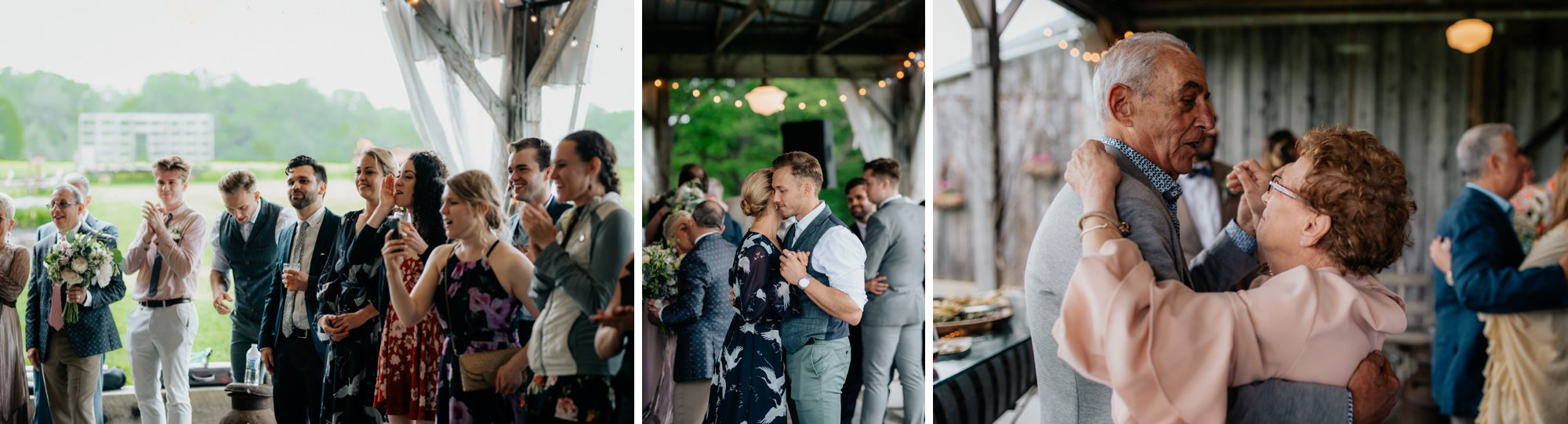 Fiddle Lake Farm Philadelphia Pennsylvania Misty Rustic Wedding with Lush Florals Dancing