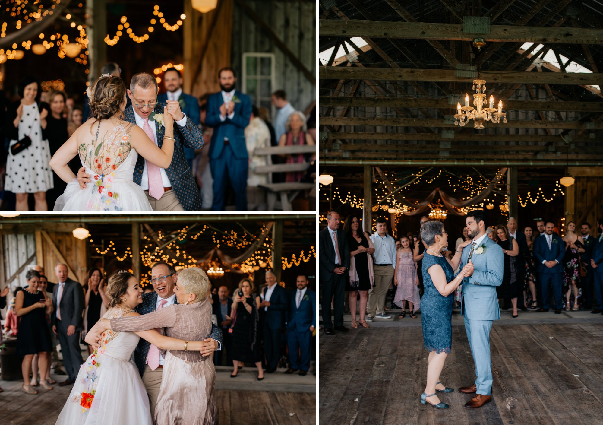 Fiddle Lake Farm Philadelphia Pennsylvania Misty Rustic Wedding with Lush Florals Parent Dances