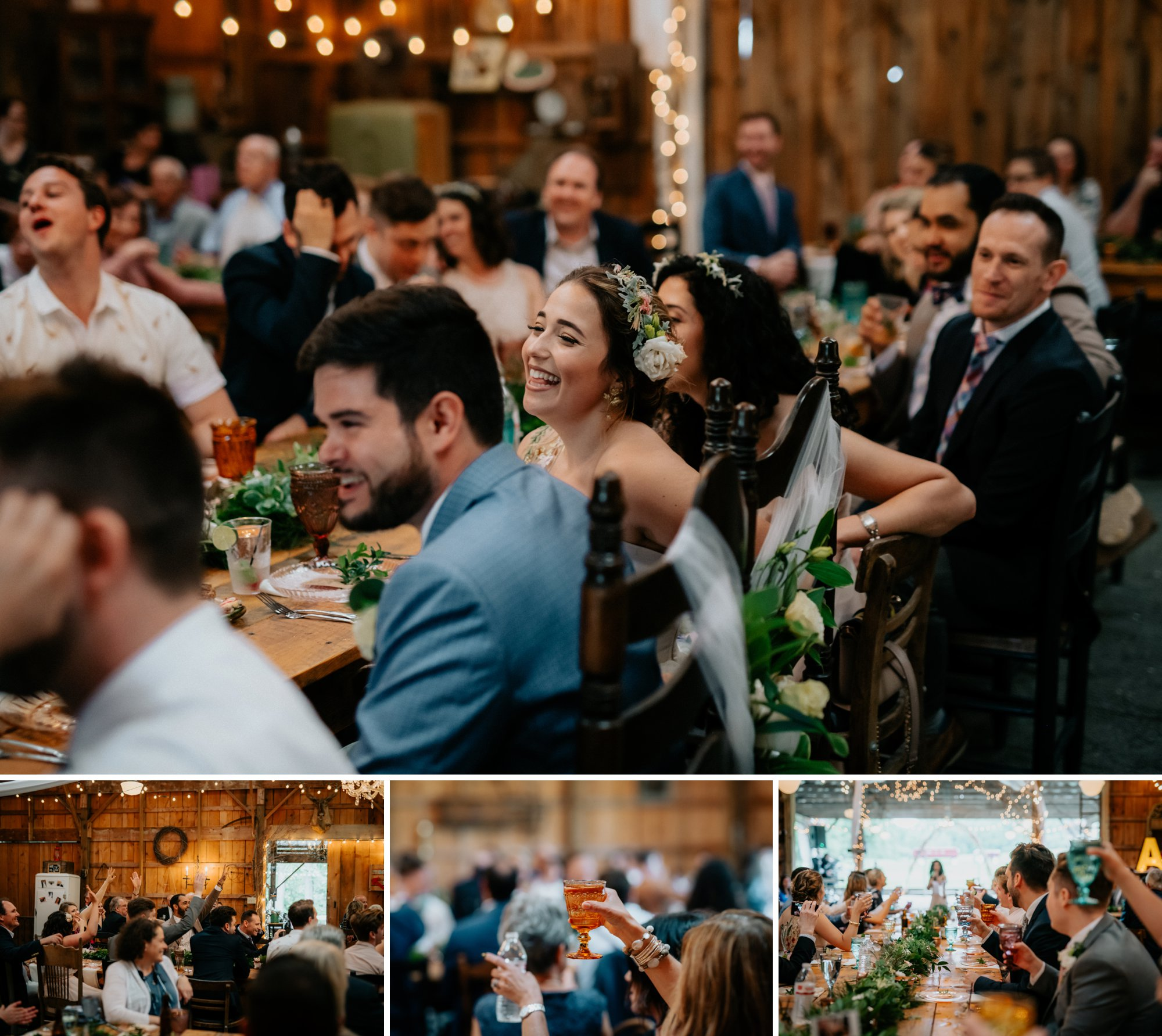 Fiddle Lake Farm Philadelphia Pennsylvania Misty Rustic Wedding with Lush Florals Toasts