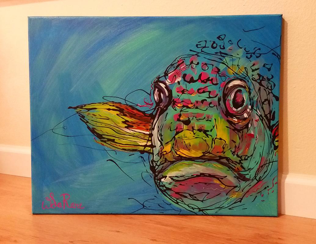 Blue Rainbow Fishy