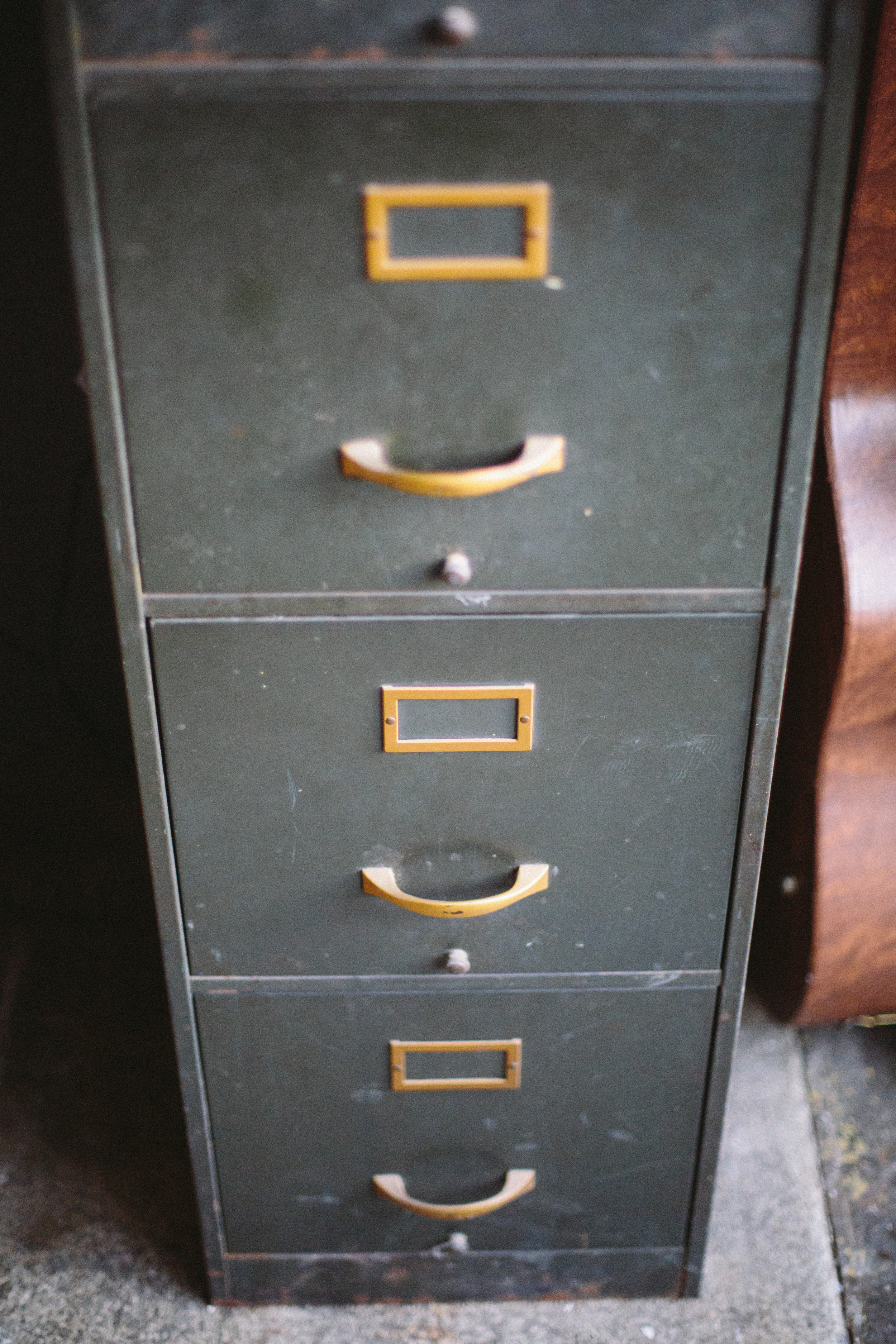 Behold the glorious filing cabinet:where it all starts and ends.