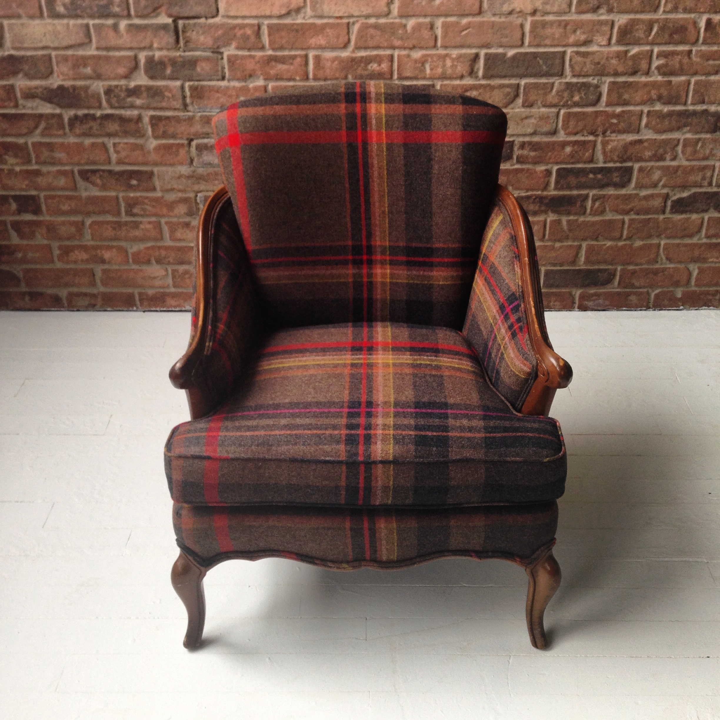 Recovered Interior Plaid Armchair