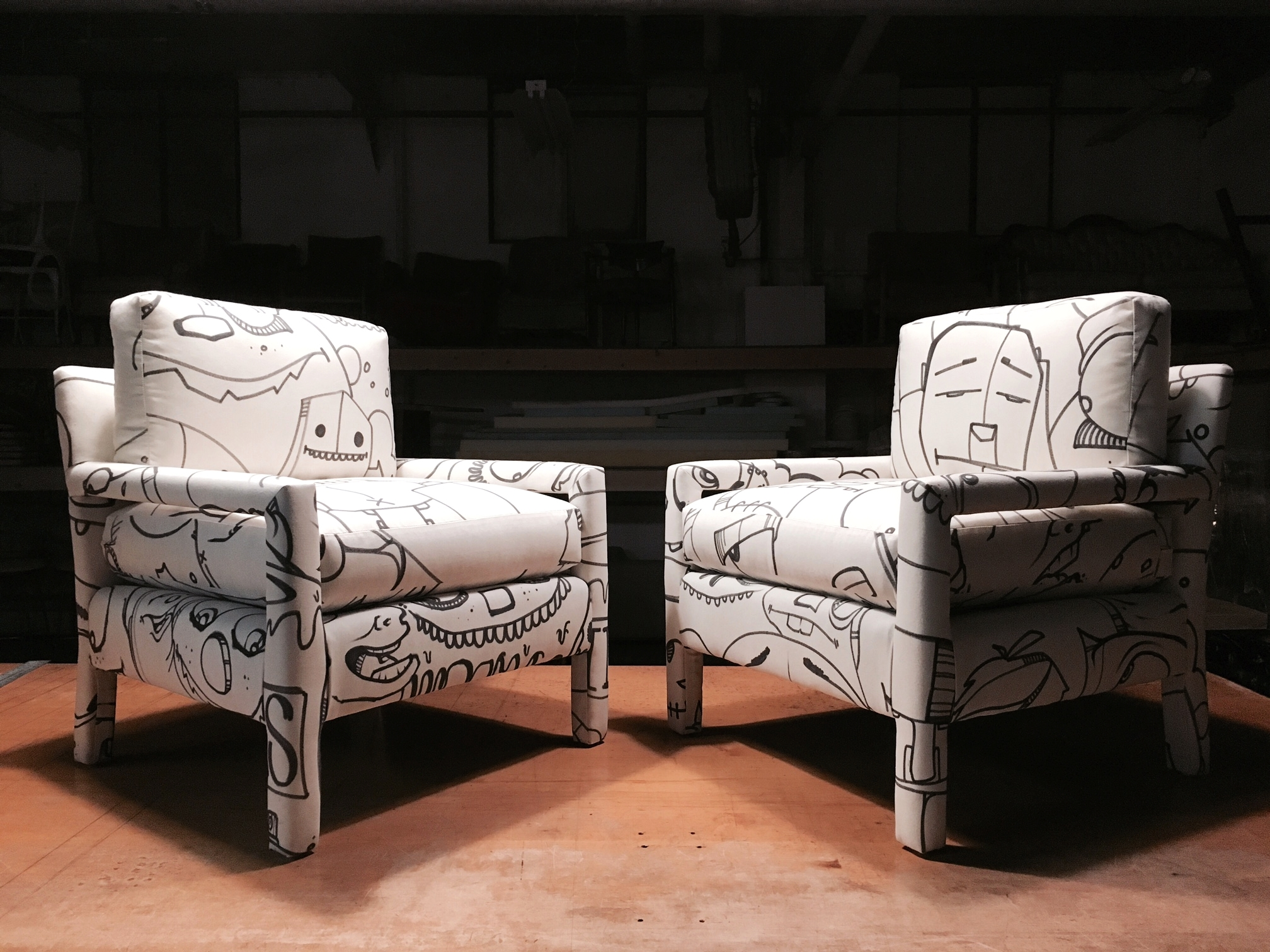 Recovered Interior Bangtel Face Chairs