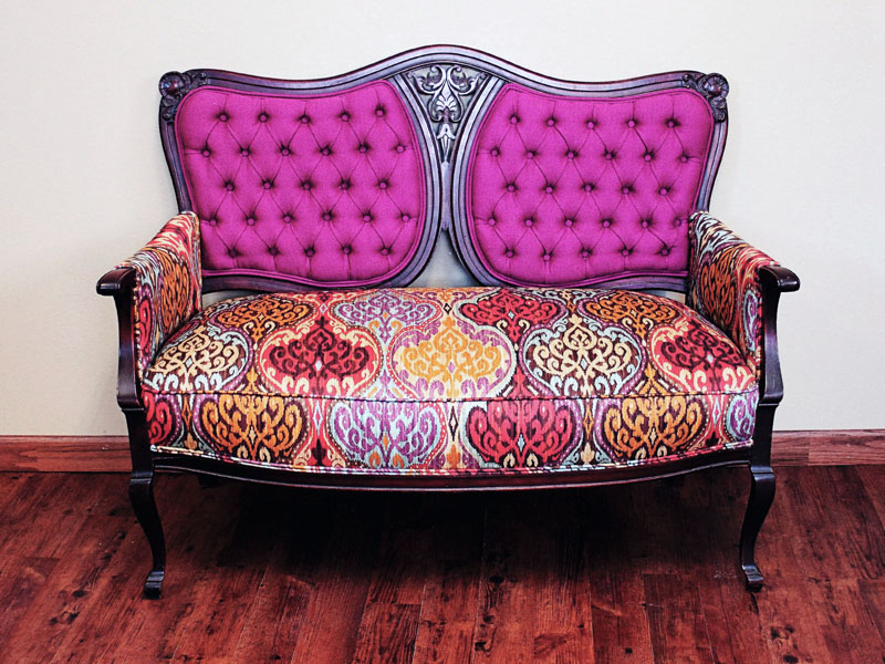 Recovered Interior Tufted Settee