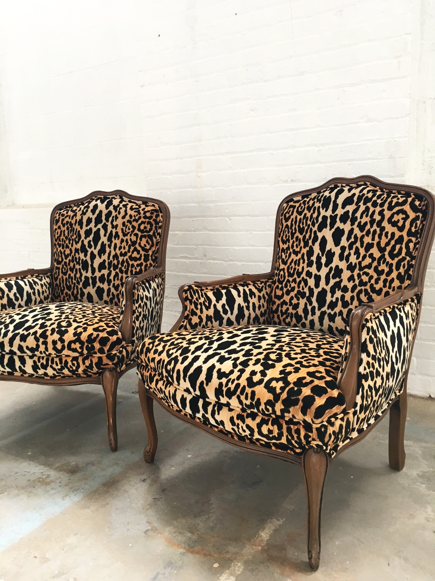 Recovered Interior Leopard Chairs