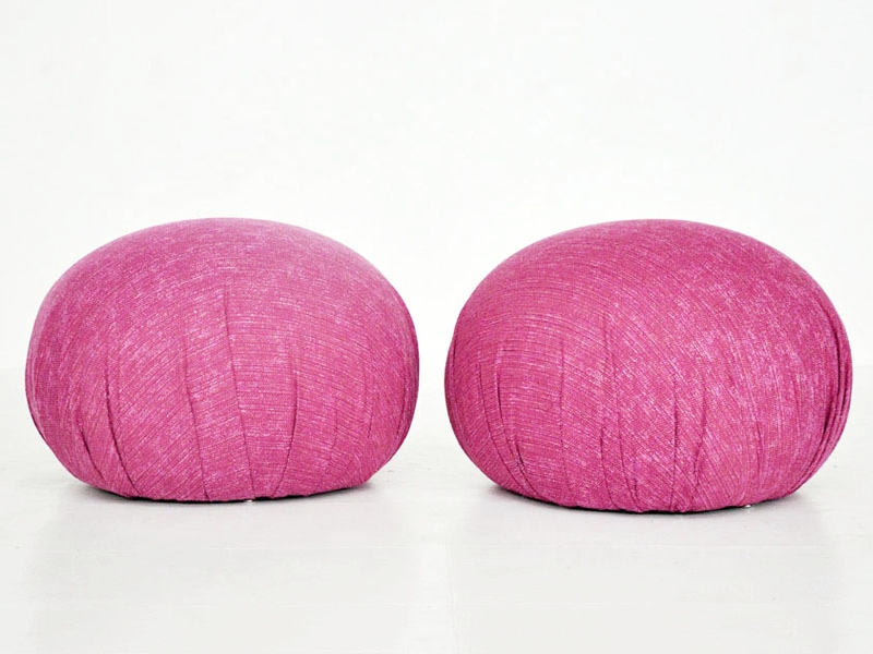 Recovered Interior Pink Poufs
