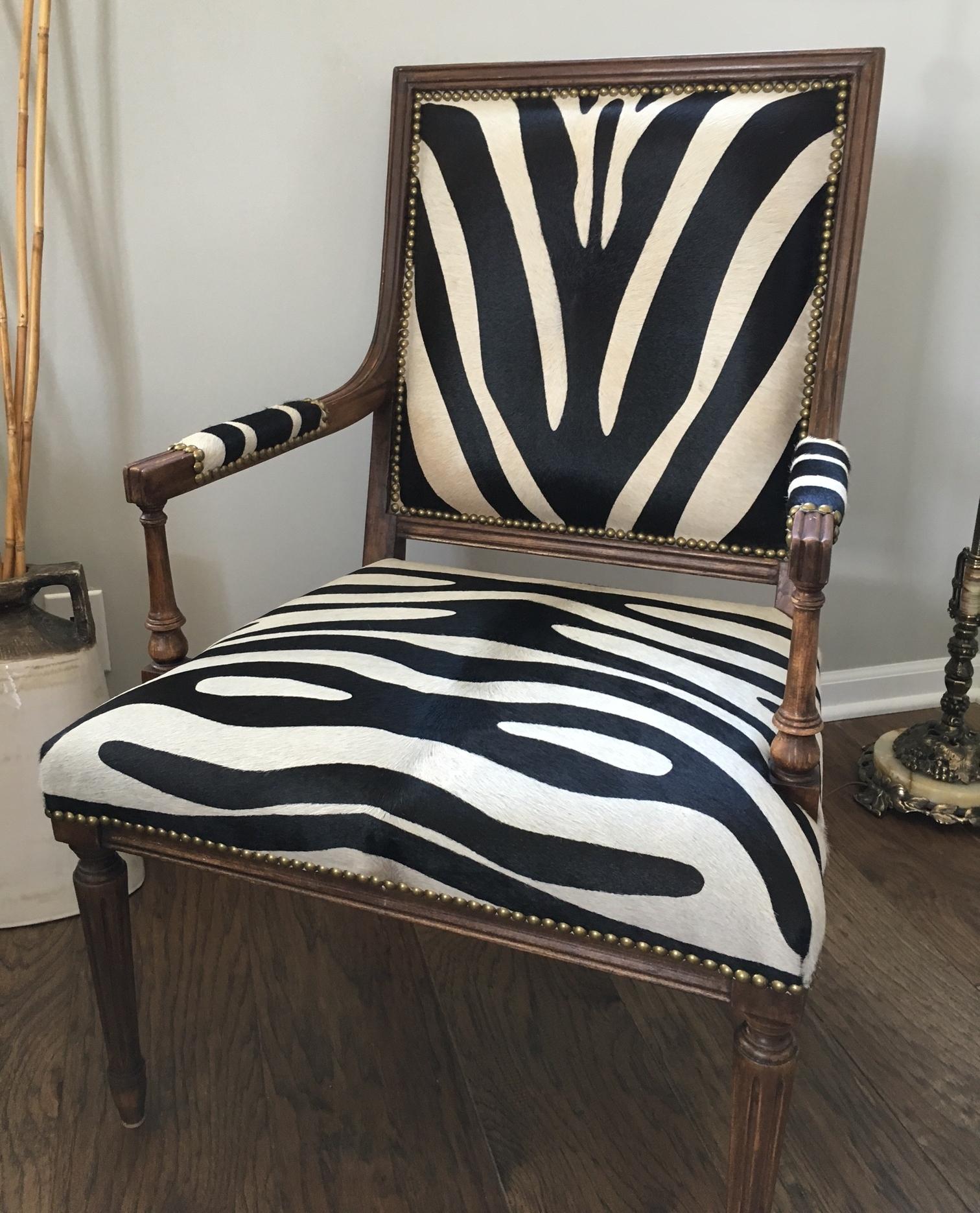 Recovered Interior Zebra Chair