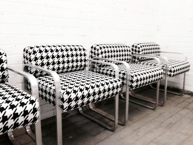 Recovered Interior Houndstooth Chairs