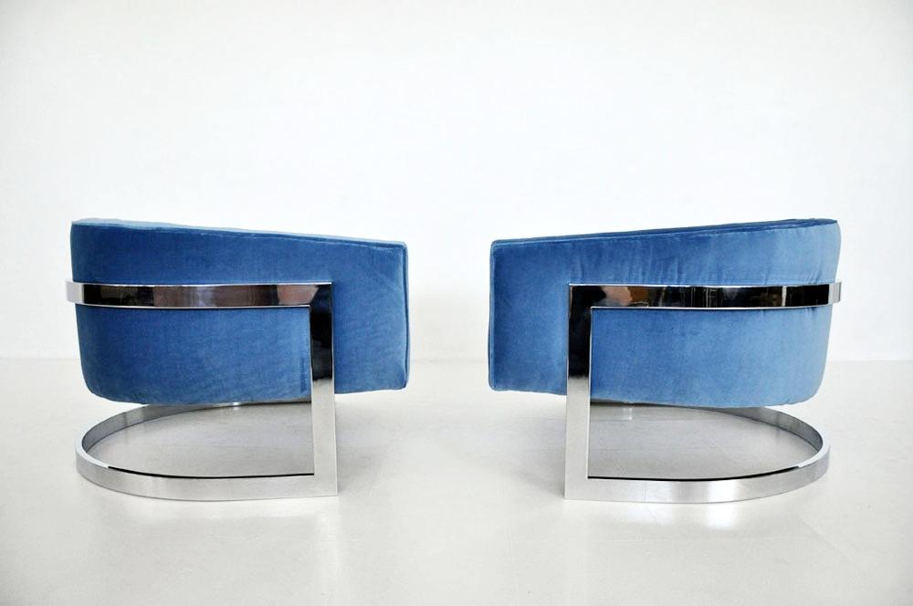 Recovered Interior Milo Baughman In Blue