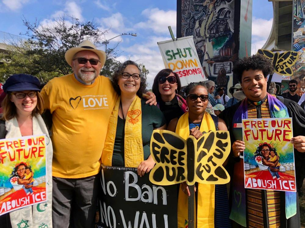 July, 2018: UUs join Mijente in San Diego to #AbolishICE                                                                                Source