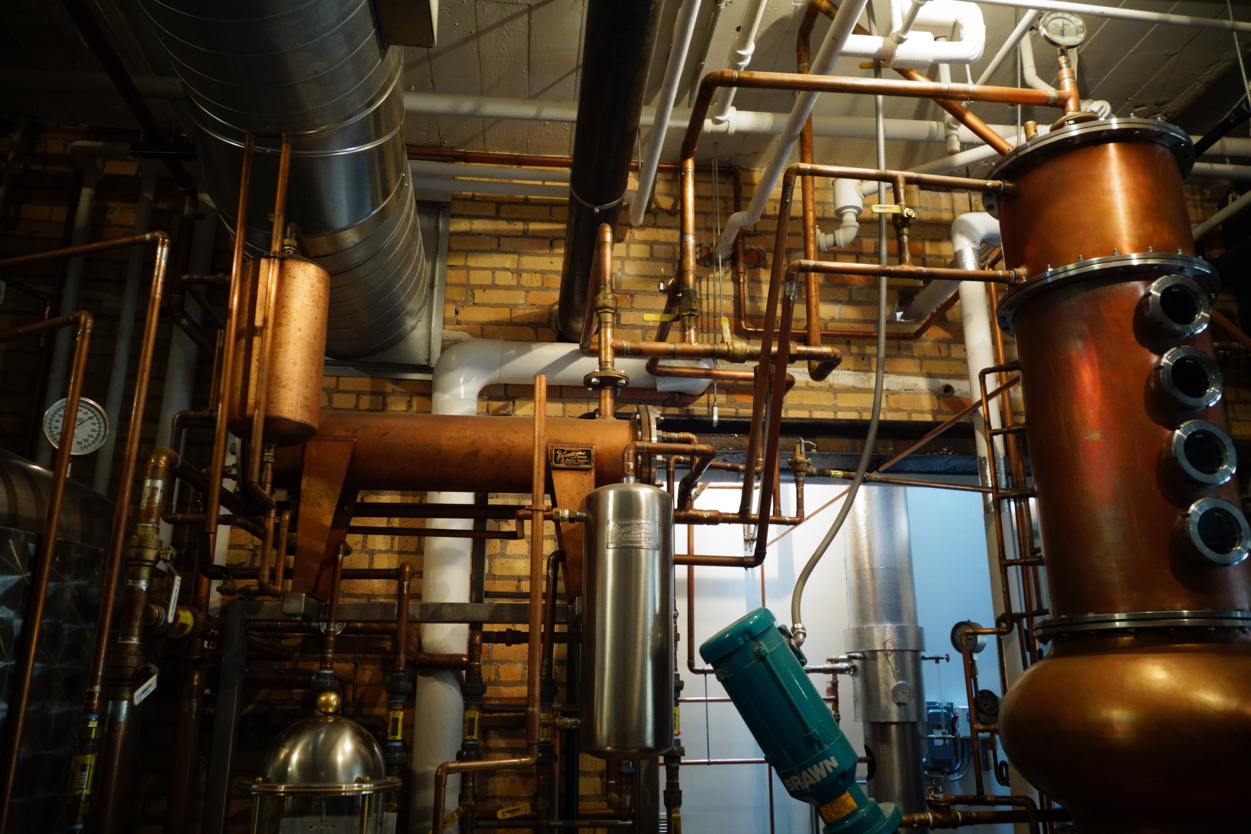 condensers on the still