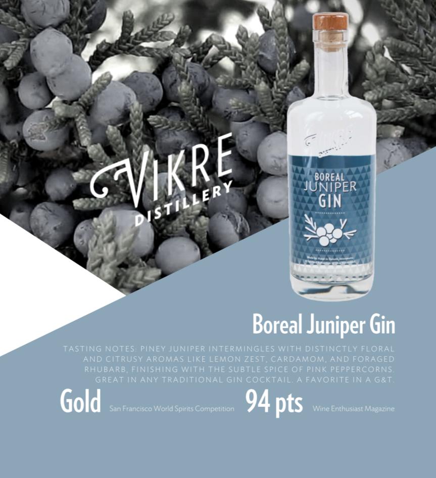 juniper gin sell sheet front