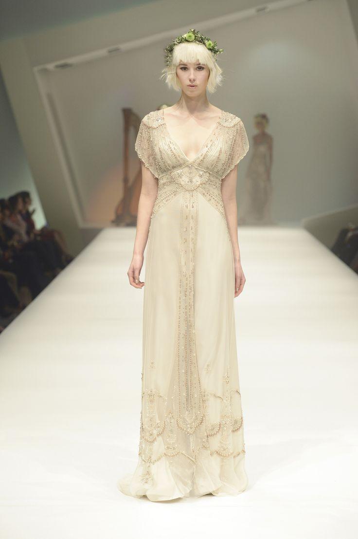 GWENDOLYNNE  'marissa' wedding dress - hair by kevin Murphy