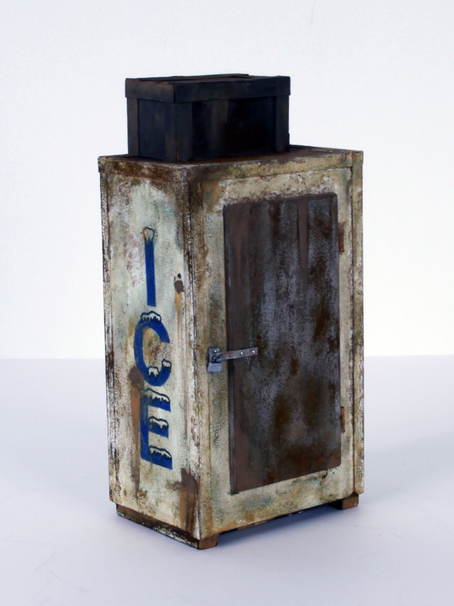 Ice Box (rusted blue) - SOLD