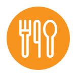 Eating utensils icon