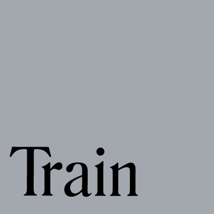 Image that says TRAIN