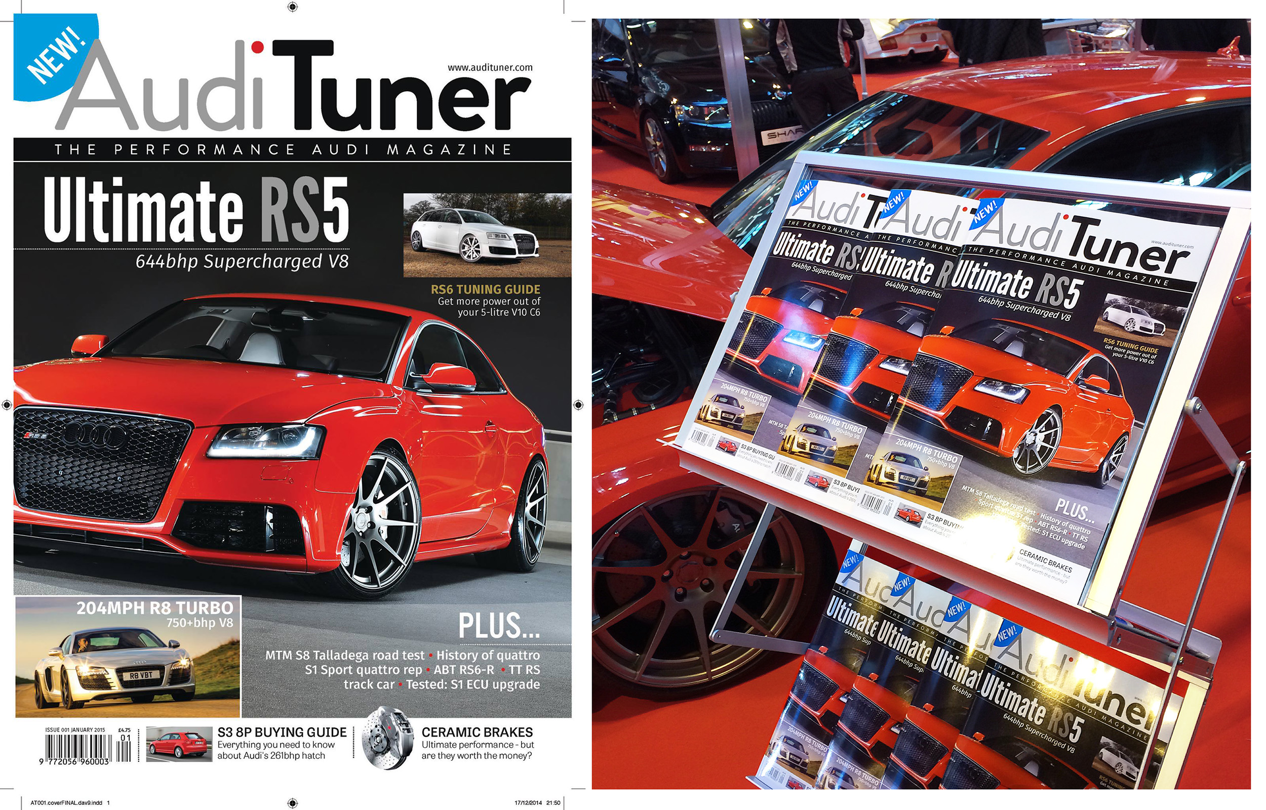 The launch issue of Audi Tuner was on displayat the Autosport 2015 show.