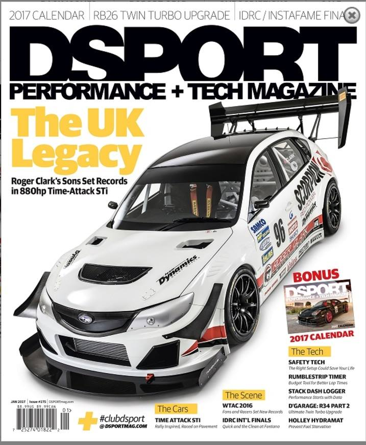 The finished result published on the Front cover of American magazine 'D Sport'