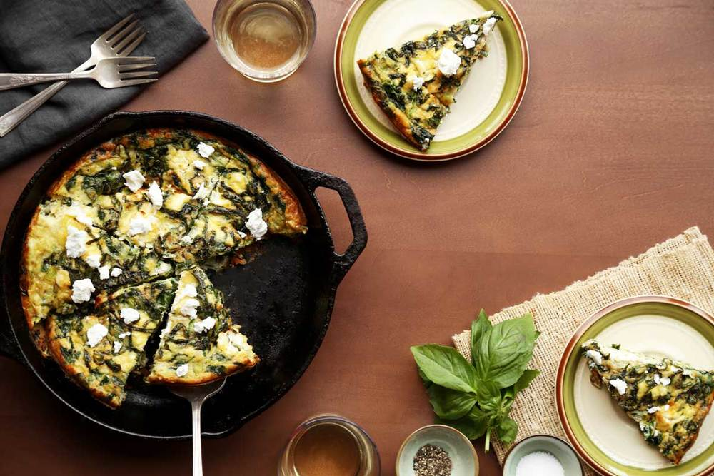 Leek and Spinach Fritatta