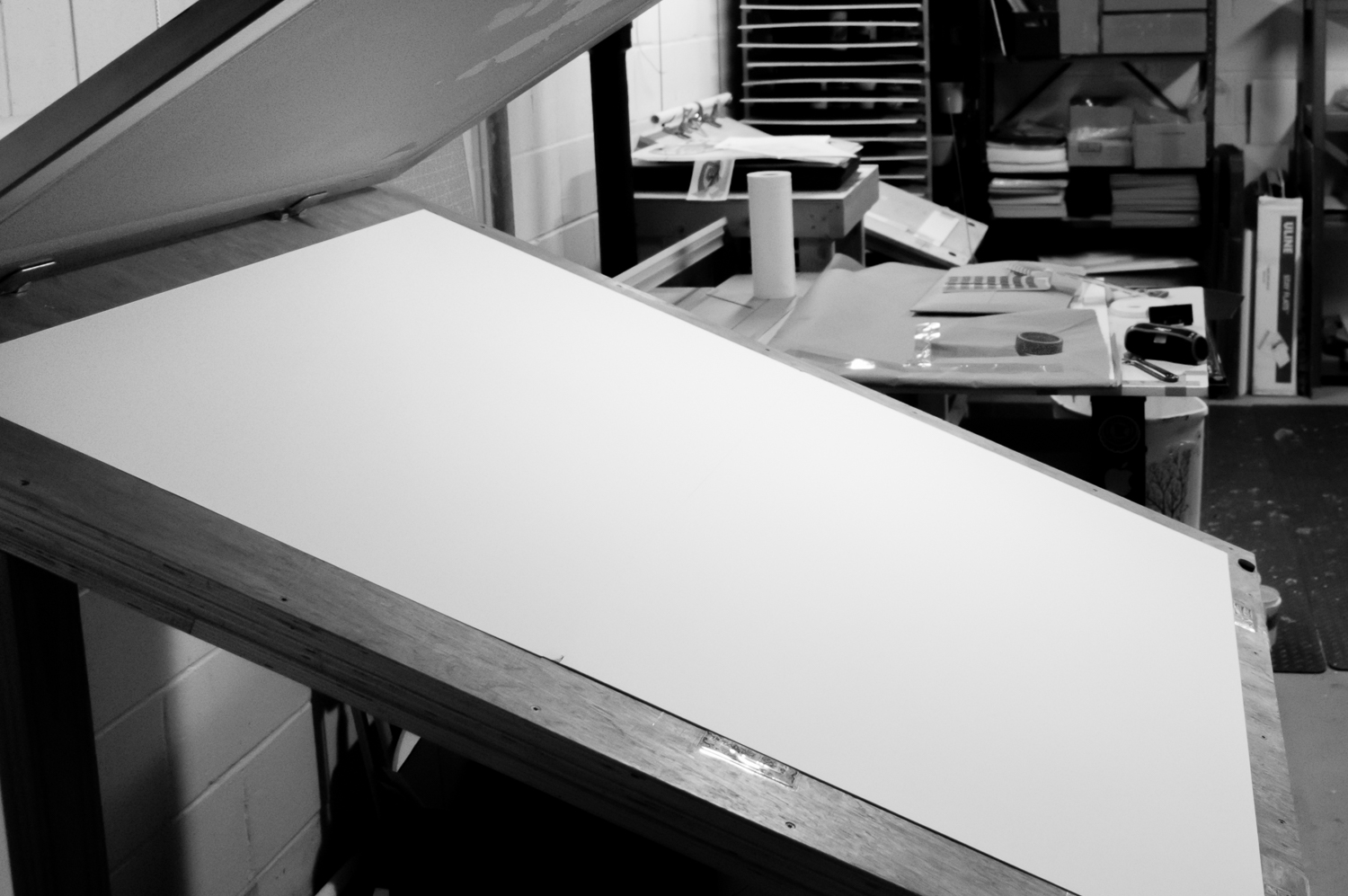 Copy of Large printing press installed in studio