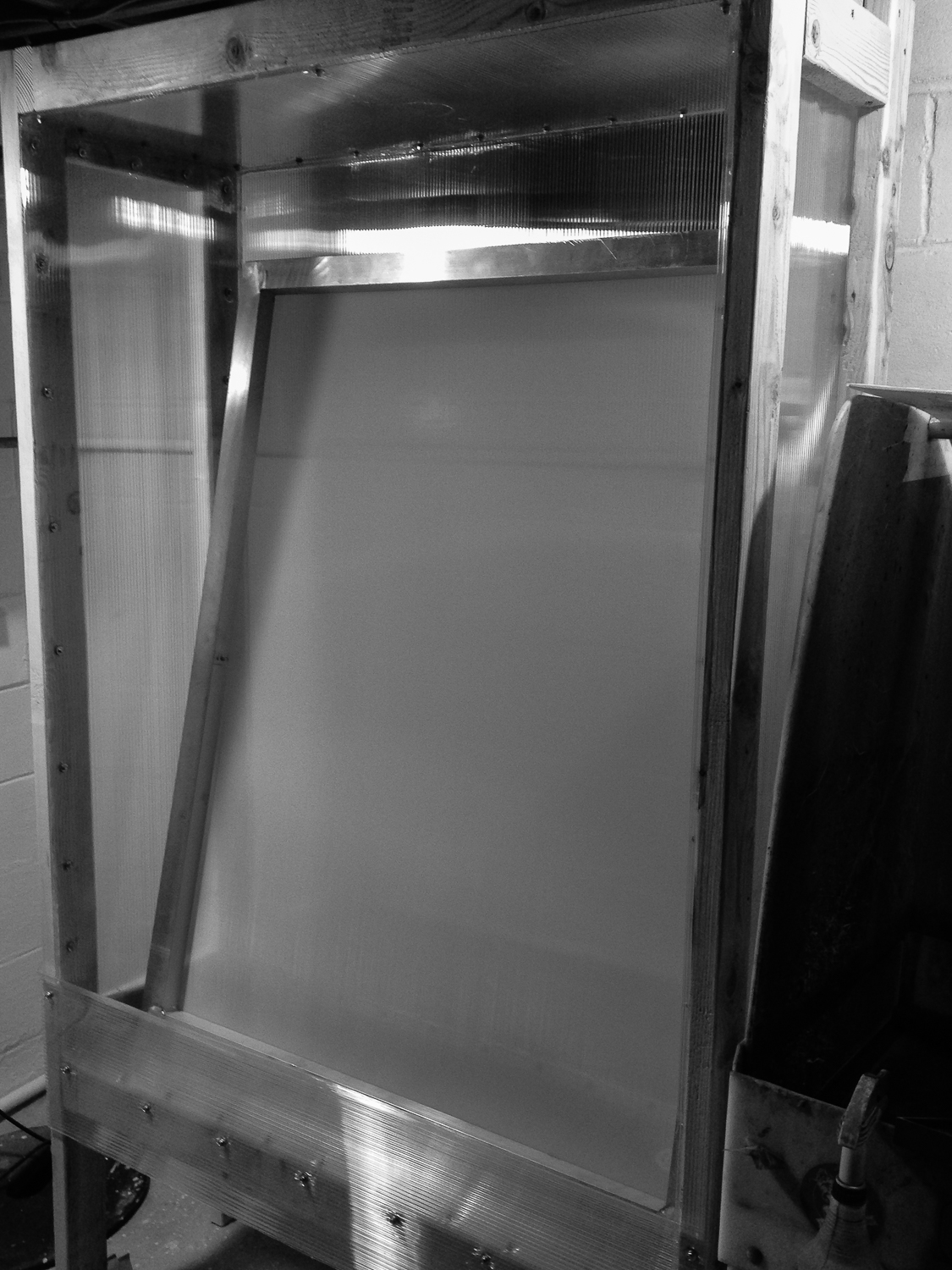 """Copy of Washout booth capable of housing a 42 x 54"""" frame.."""