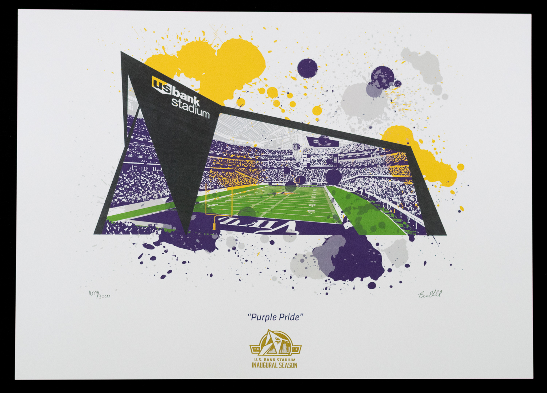 "U.S. Bank Stadium Inaugural Season Commemorative Art Piece - 17 x 12.75"""