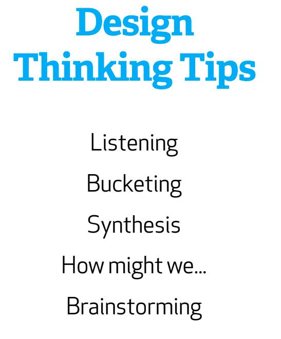 Design Thinking Tips