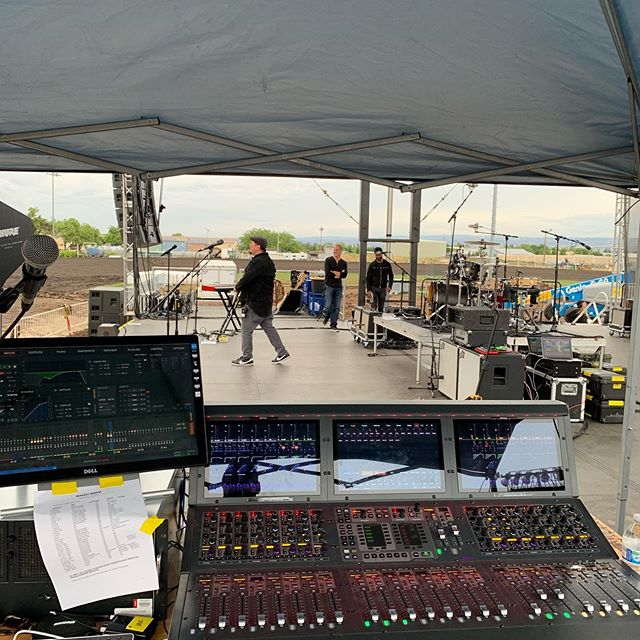 Pre show doing monitors at the Chico raceway with Magic!