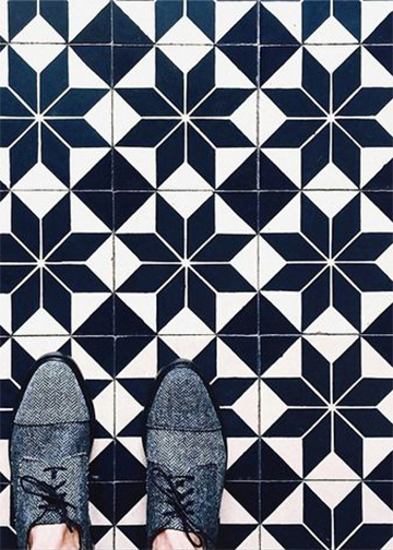 Grayscale Geometric Tile // THE FINISH BLOG