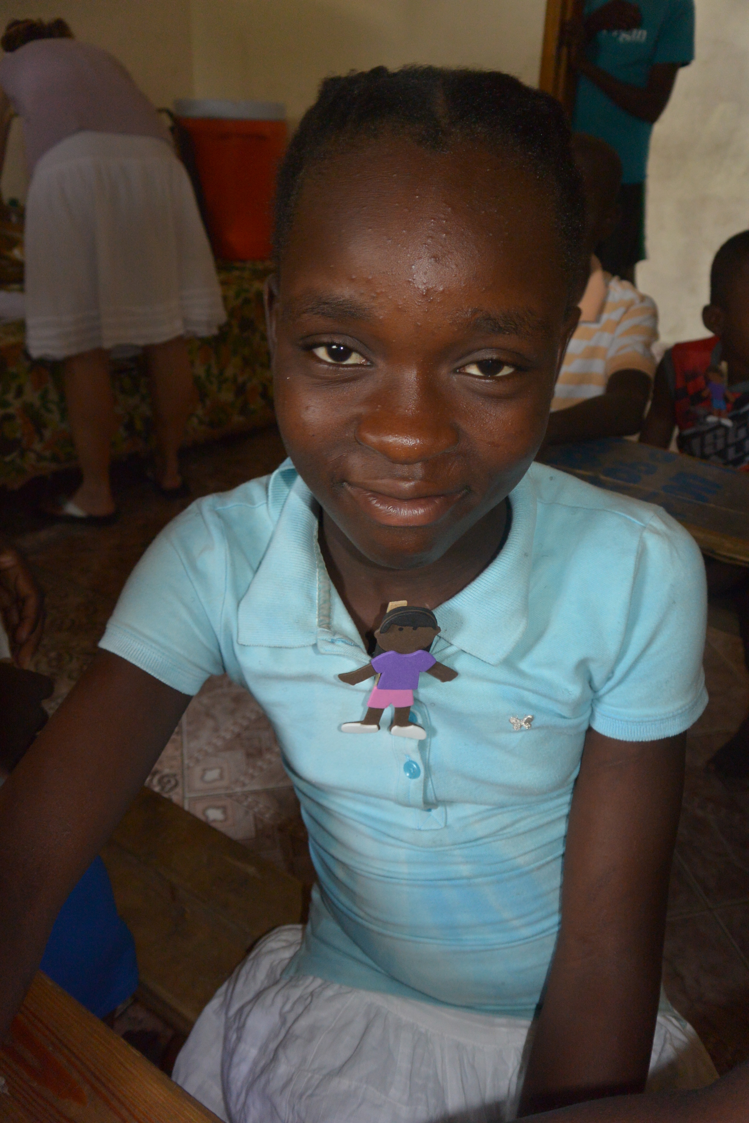 This is Antonide.  She'll be 13 in October.  She's interested in learning and helping, and she mothers the younger boys and girls.