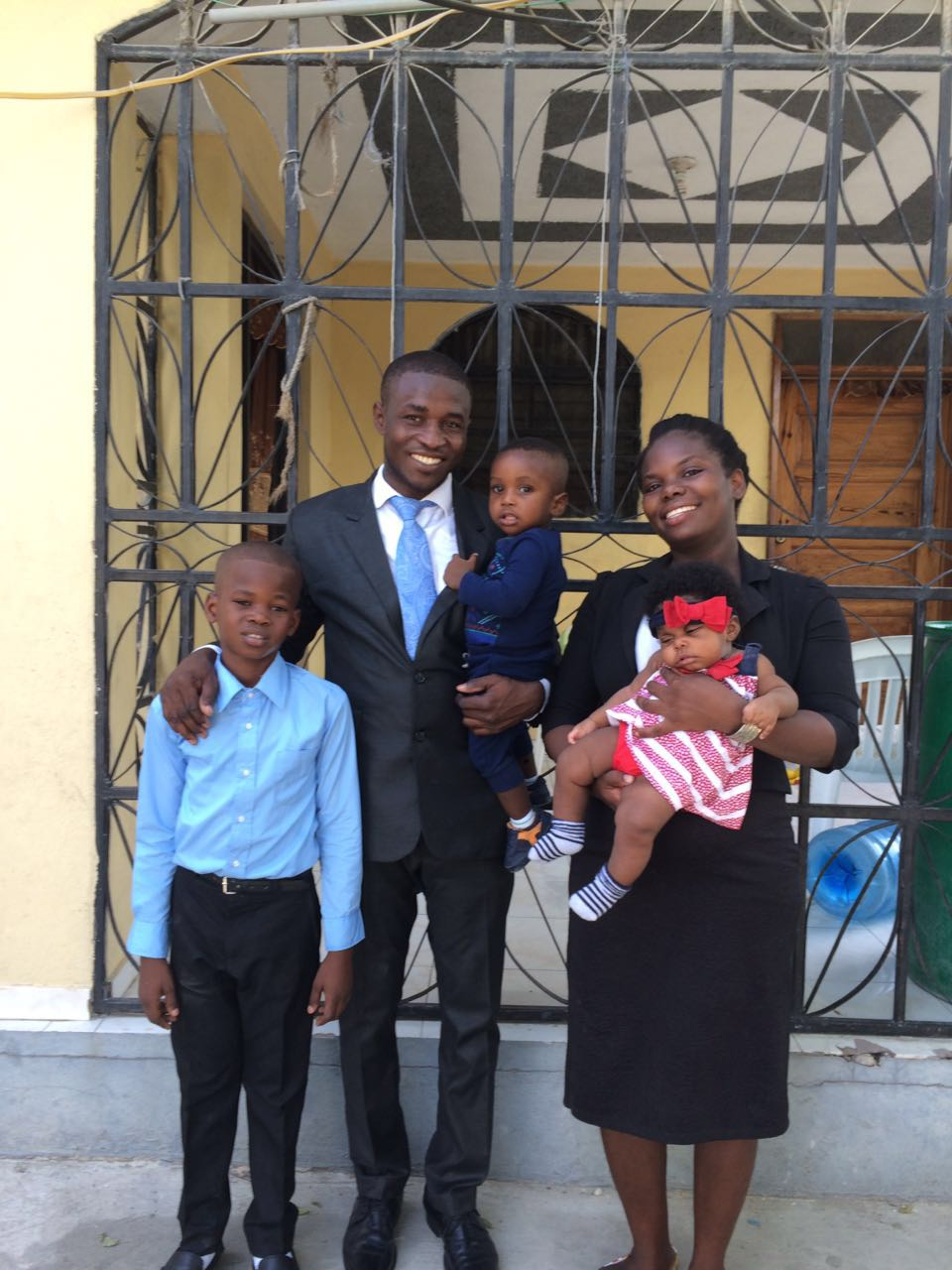 Steeve and his precious family as he prepares to go to STEP for his first night of seminary, year 2.
