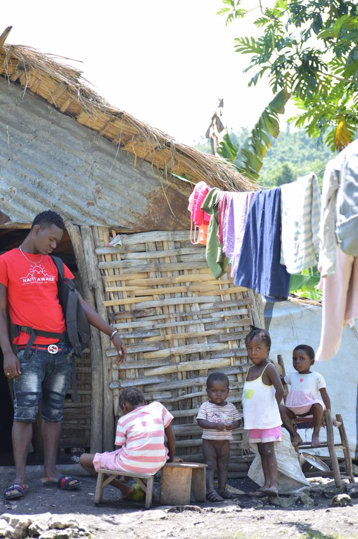 Meet The Willio Pierre Family - Guirlene Baptiste and her husband Willio Pierre are farmers, and they have four children. Two of them are going to school.When we visited, the parents had gone to the market and left their children home.