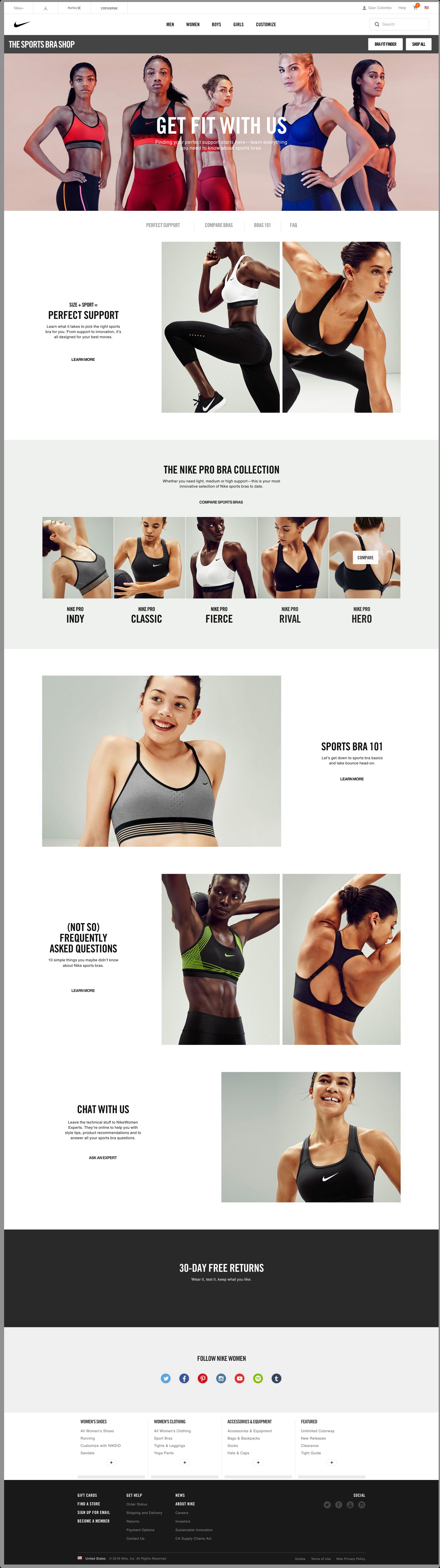 Nike Sports Bra Boutique: Online Shop