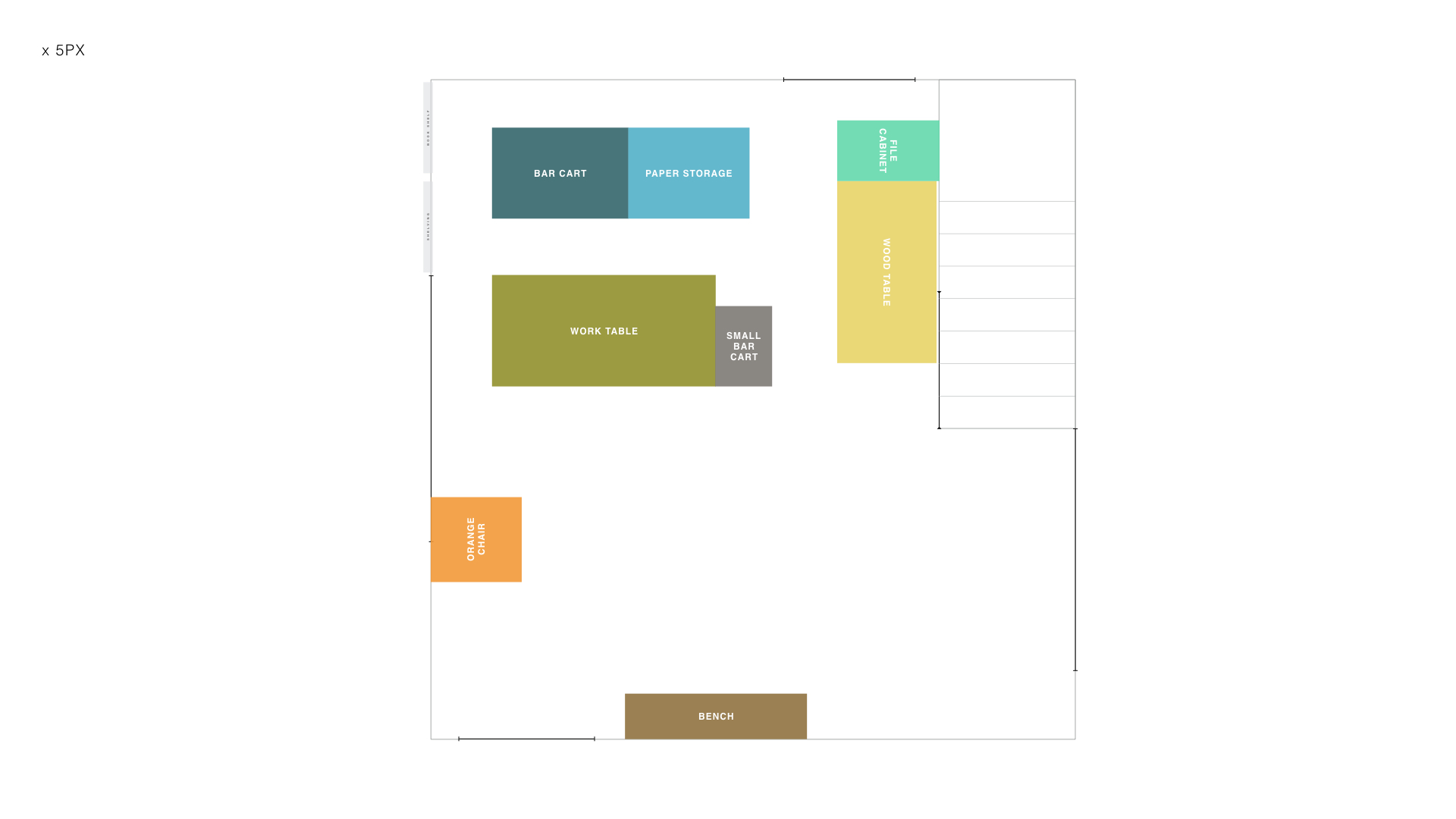 Sketch layout, new studio