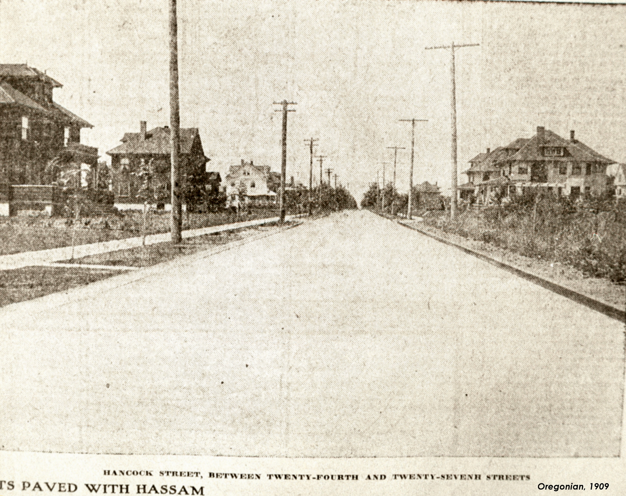 Hancock street/tHE oREGONIAN 1909