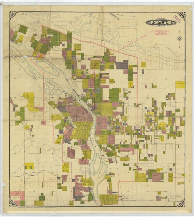 1906 map of portland
