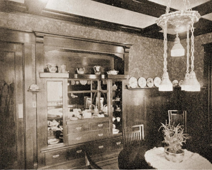 1916 Irvington dining room