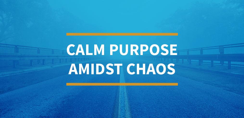 Calm Purpose Amidst Chaos