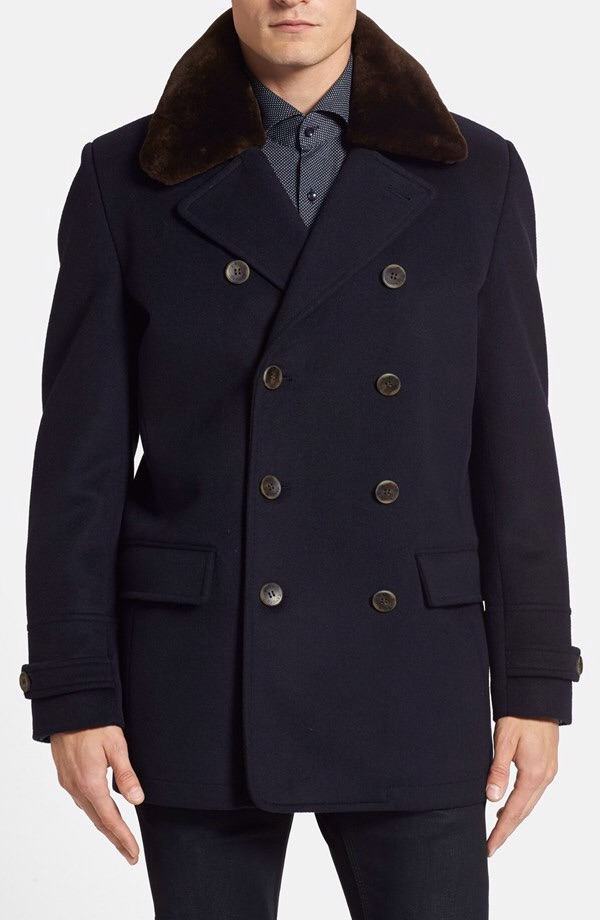 Nordstrom:   Vince Camuto Water Repellent Peacoat w/ Removable Colar  $238.80