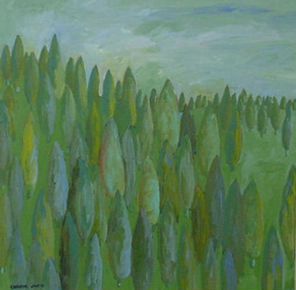Arborvitae on the Move, 24x24, oil on canvas.jpg