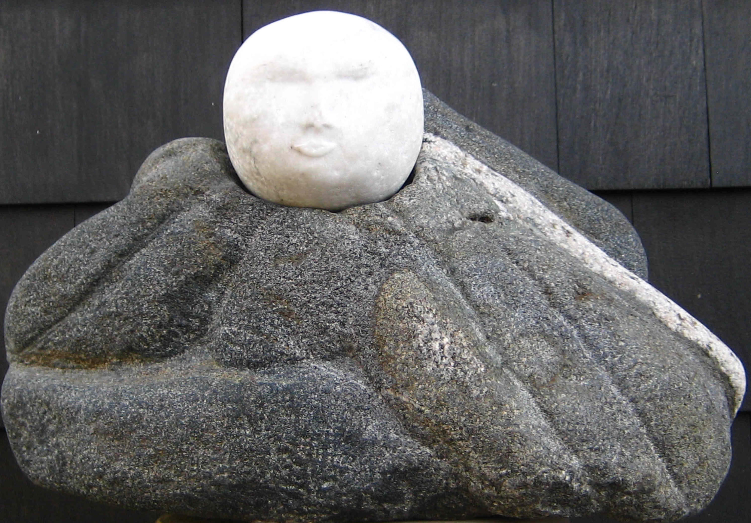 Baby Buddha - Danby Vermont marble, biotite, quartz.jpg