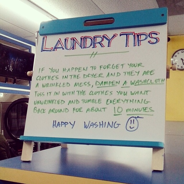 Wednesday Washing Tip @highlandlaundry #lookformoretocome #hollywoodlaundromat #loadandleave #wednesdaywashingtip #laundrylist