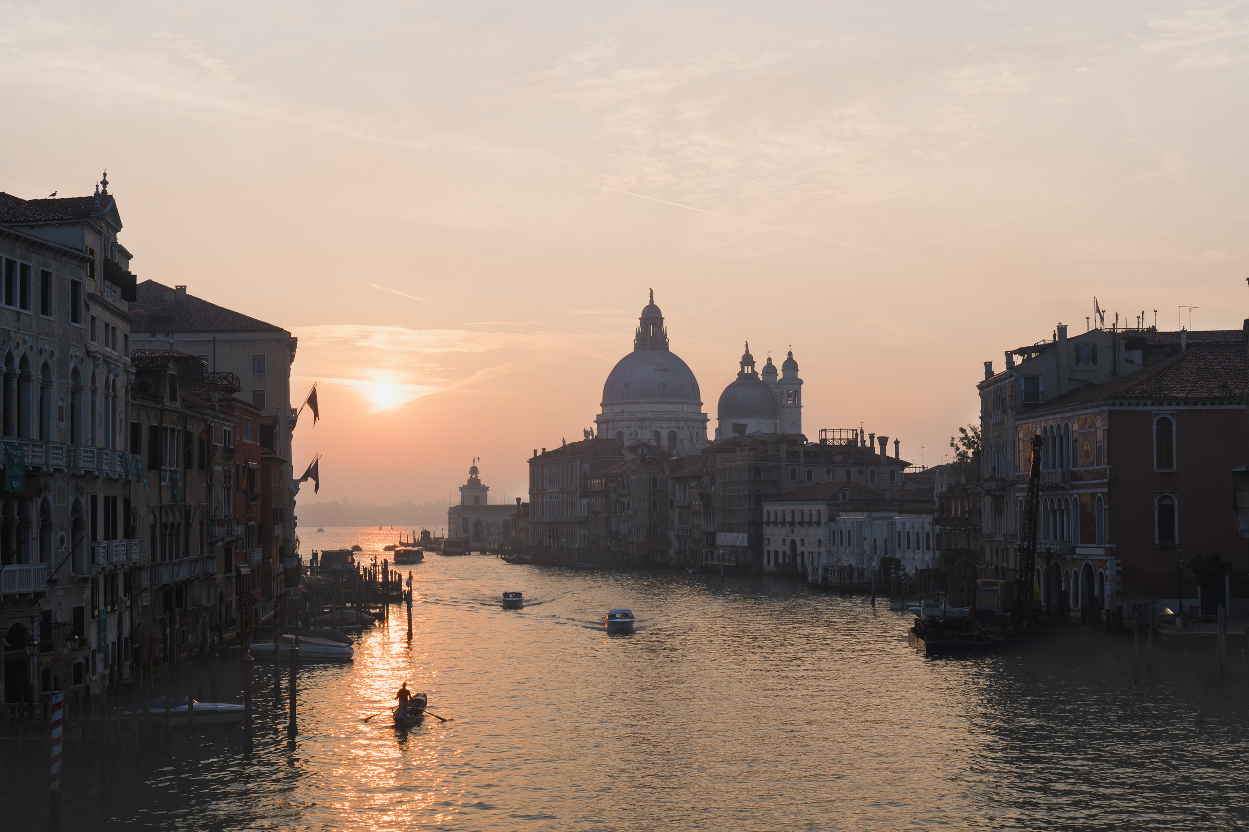 Sunrise view from Ponte dell'Academia