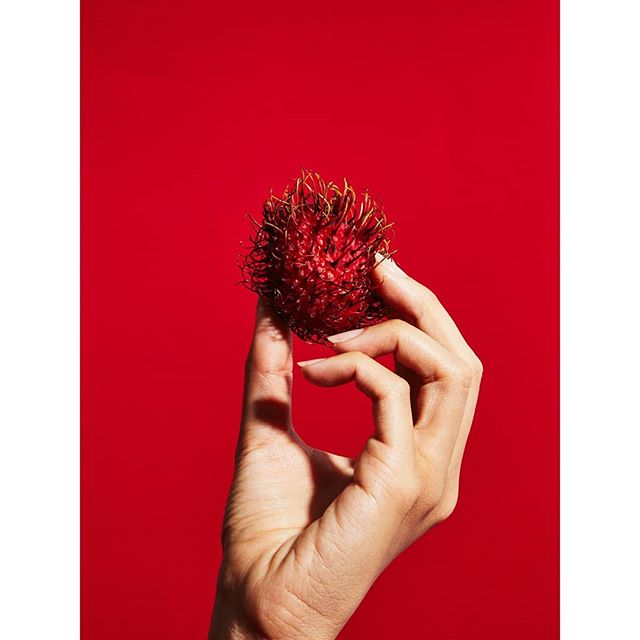 Continuing the summer red series with rambutans. Hand model: @iamkristinali. Styling: @ashleynev