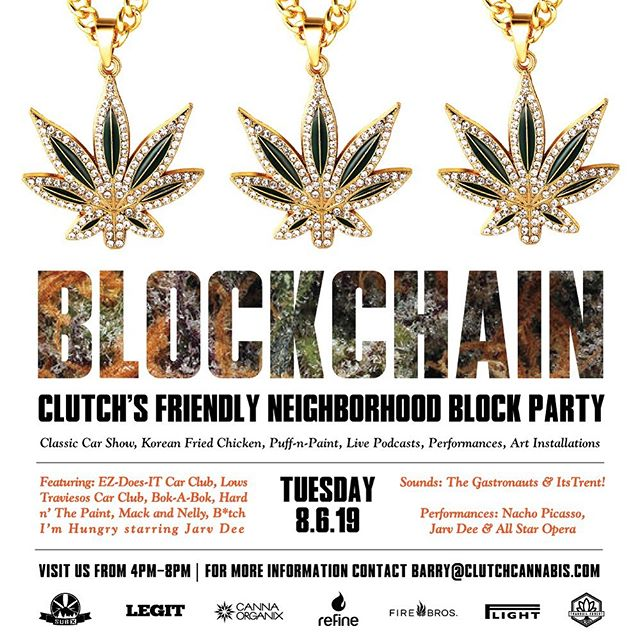Save the Date Tuesday 8/6 4PM-8PM is our annual Block Party.  We're leveling up this year with a few of our favorite growers + @bokabokfriedchicken w/ special performances by #thegastronauts  @its_tr3nt @nachopicasso @jarvdee @allstaropera 🔊