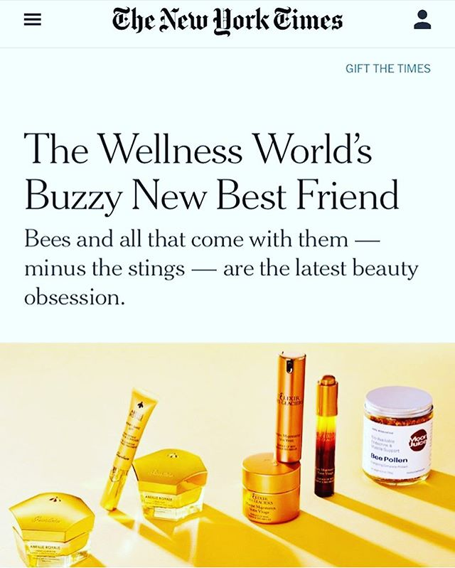 Bee products....so buzzworthy. My story in today's @nytimes 🐝🐝 link in bio