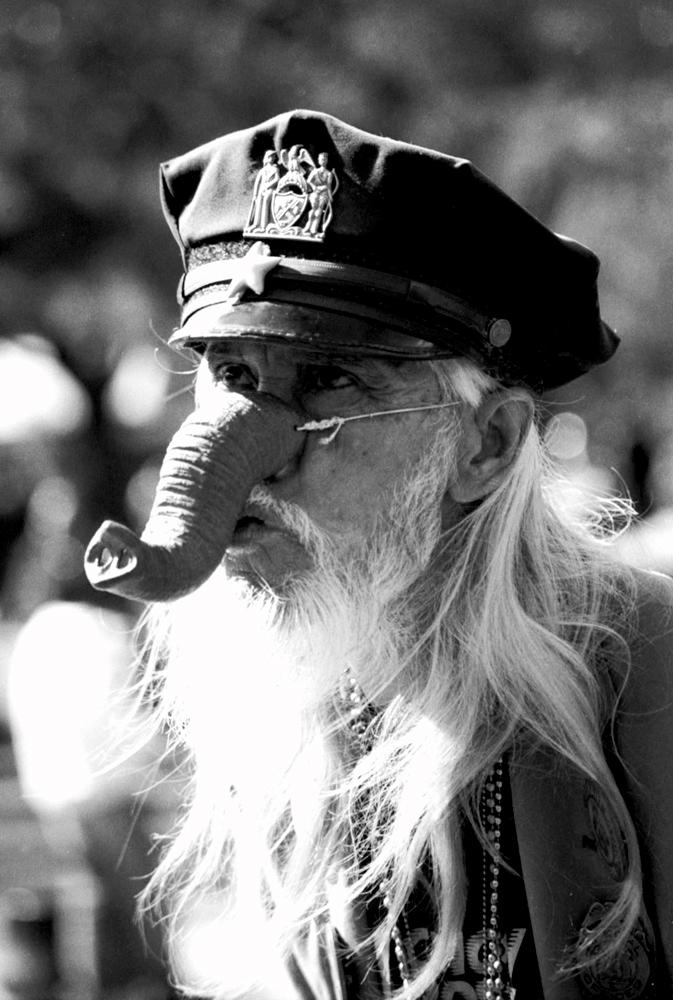 ELEPHANT DUDE - WASHINGTON SQUARE PARK, NYC - 1996