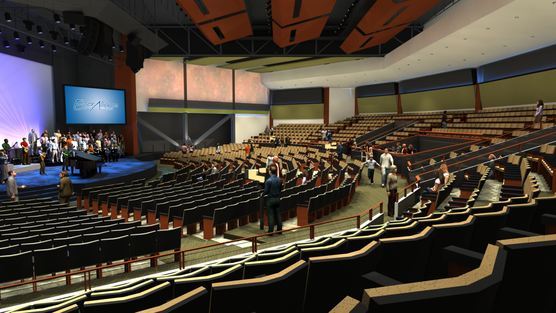 1,200 seat  auditorium / expandable to 2,000 seats