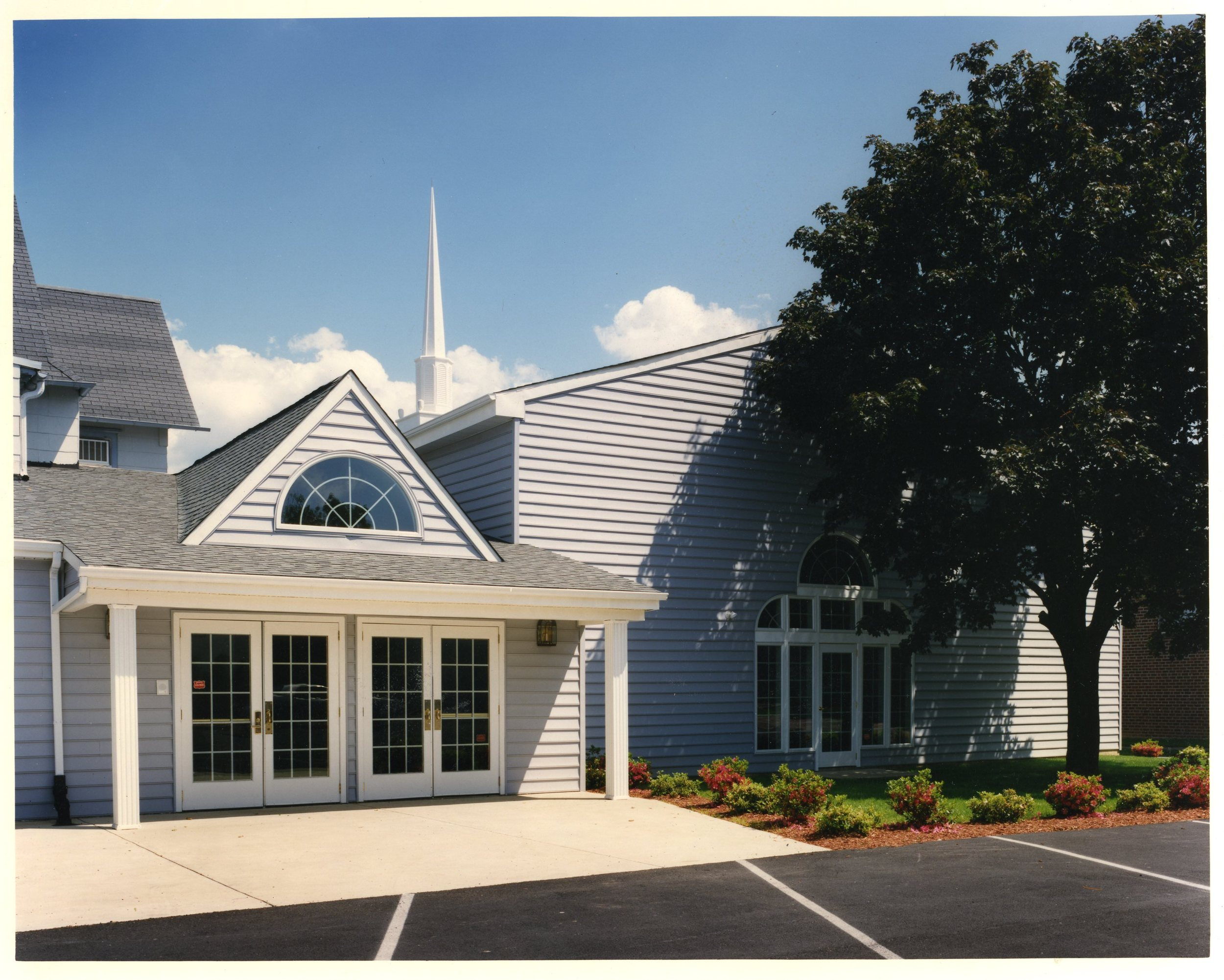 Bethel fellowship's first 'home' - a converted funeral home with a small addition